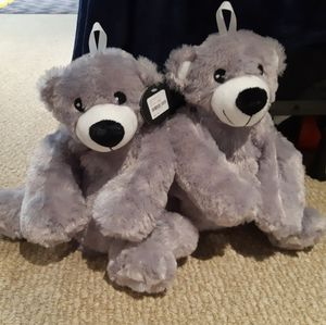 Hot water bottles with teddy bear covers